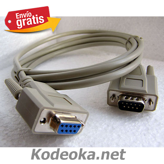 CABLE CONECTOR MONITOR DB9 MACHO DB9 HEMBRA