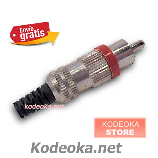 CLAVIJA CONECTOR RCA MACHO AUDIO VIDEO METALICA