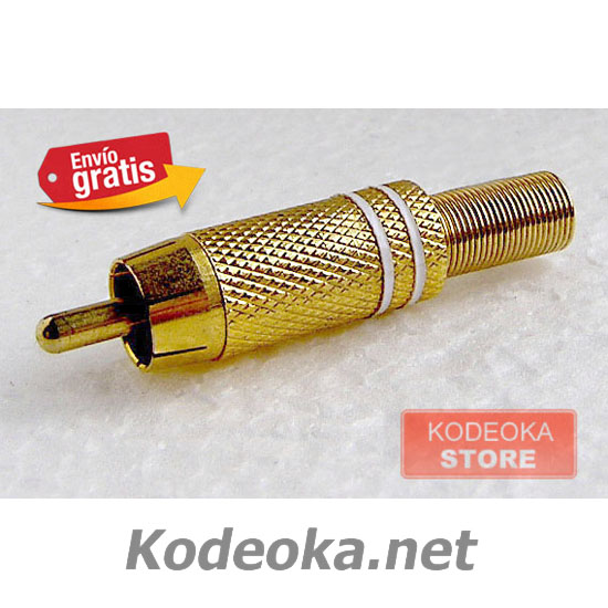 CLAVIJA CONECTOR RCA AUDIO / VIDEO METAL ORO
