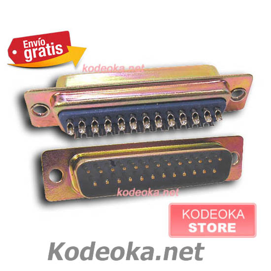 CONECTOR DB 25 PINES MACHO