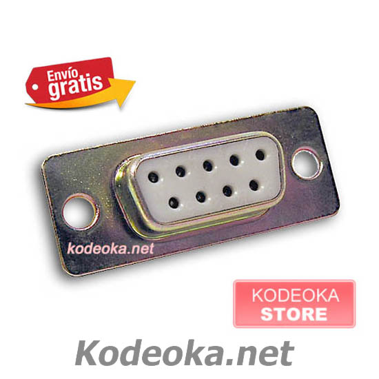 CONECTOR DB9 PINES HEMBRA PUERTO SERIE