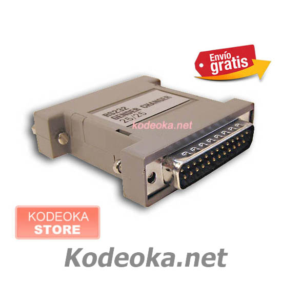 CONECTOR ADAPTADOR AT DB25M / DB25H 25 VIAS