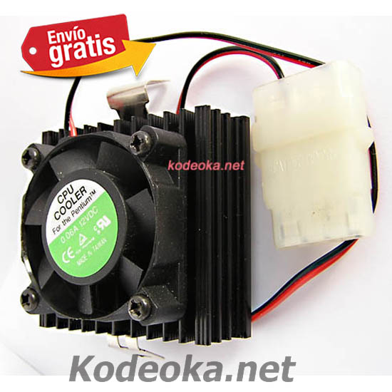 VENTILADOR COOLER MICROPROCESADOR PLACA BASE