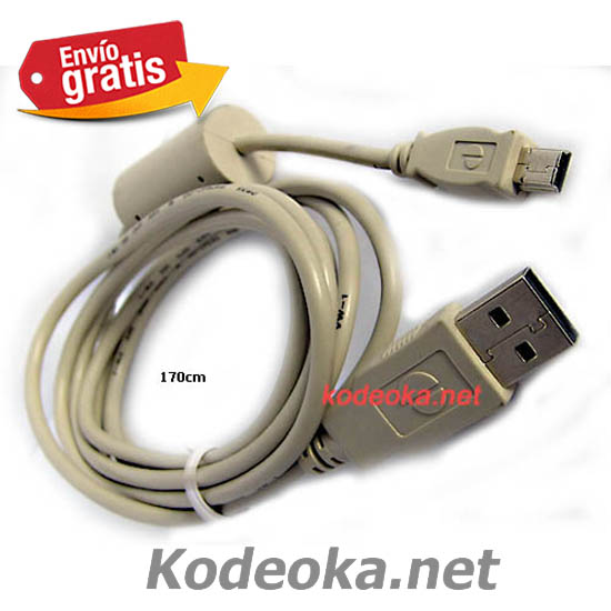 CABLE USB CON CONECTOR USB A MINI USB