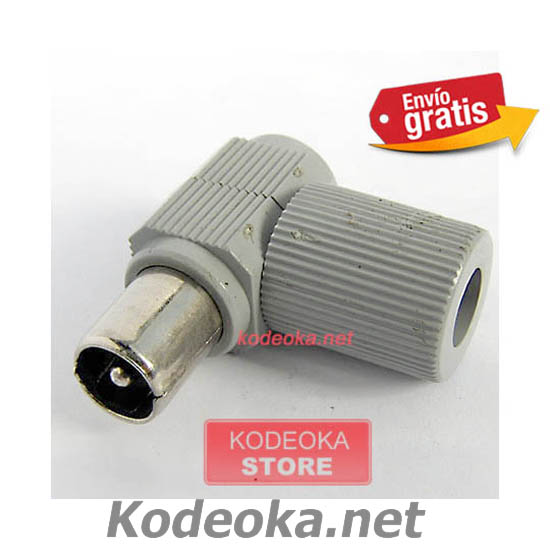 CONECTOR TV MACHO ACODADO