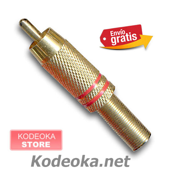 CLAVIJA CONECTOR RCA AUDIO VIDEO METALICA