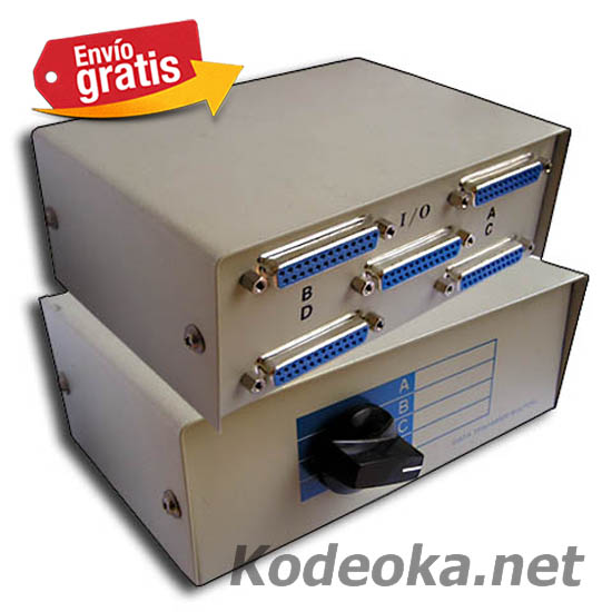 CAJA METALICA CONECTORES DB25 DATA SWITCH