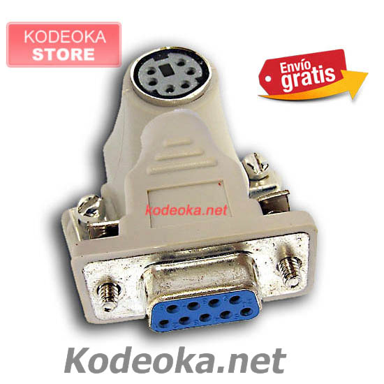 CONECTOR ADAPTADOR DB9 A MINI DIM