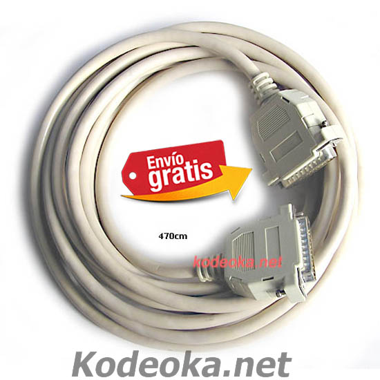 CABLE CONECTOR RS232 PARALELO MACHO