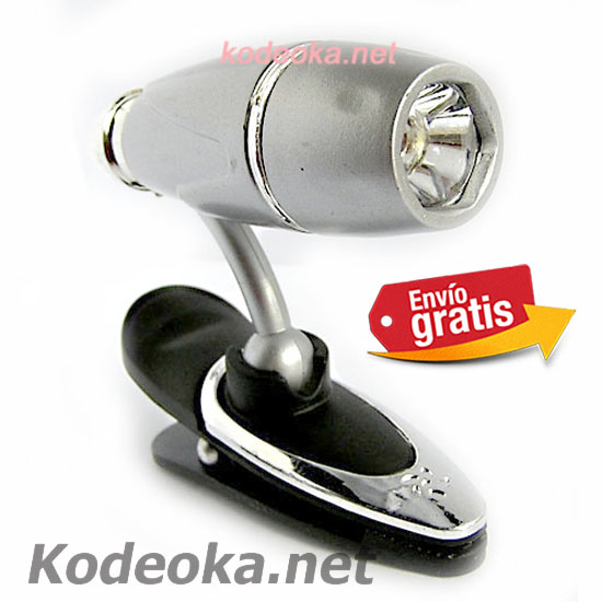 MINI LAMPARA LED CON PINZAS