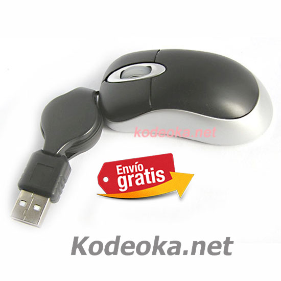 MINI RATON CON CABLE RETRACTIL PARA PORTATIL