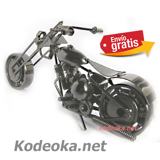 MAQUETA MOTO CHOPPER METALICA PARA DECORACION