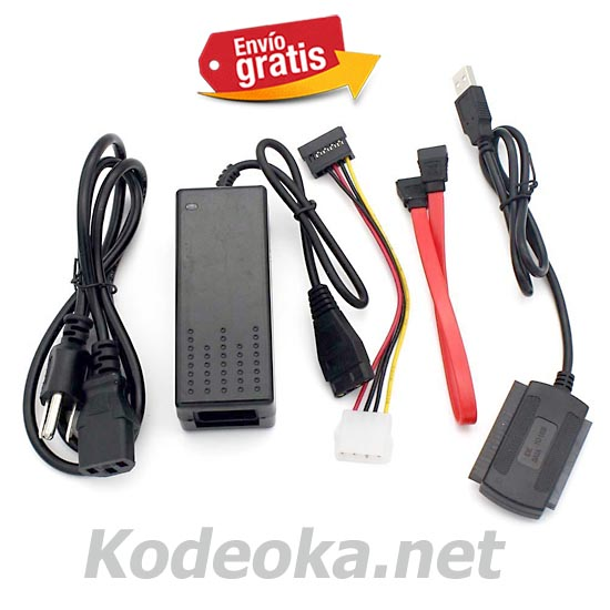 ADAPTADOR KIT USB / IDE / SATA DISCO DURO Y PERIFERICOS