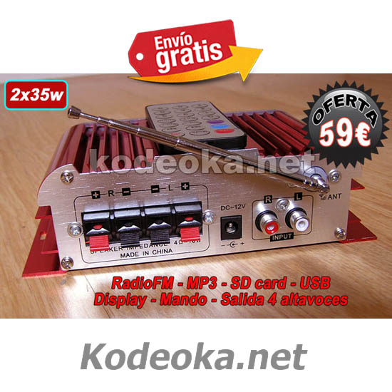 AMPLIFICADOR MINI CON RADIO BIG-BUTTON