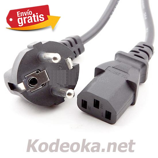 CABLE ALIMENTACION ORDENADOR PC