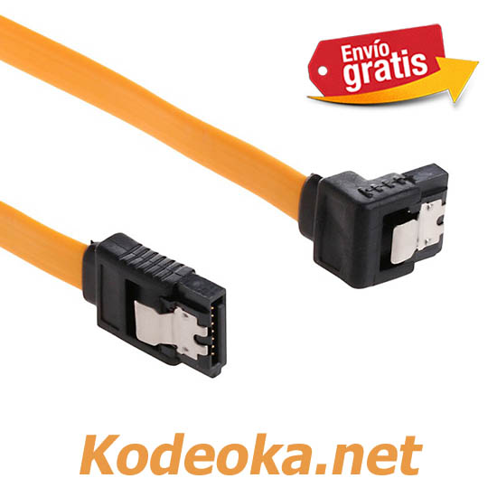 CABLE CONEXION SATA3 DATOS DISCO COLOR NARANJA