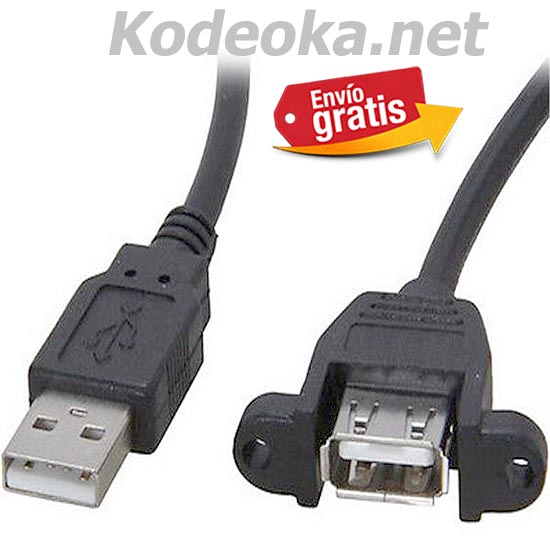 CABLE USB MACHO / HEMBRA MONTAJE SUPERFICIE