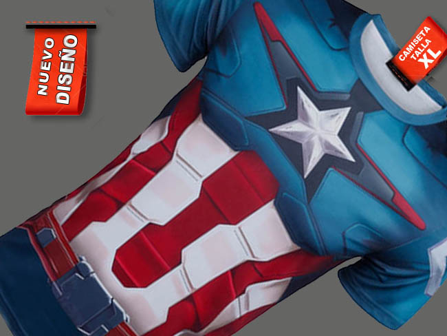 CAMISETA CAPITAN AMERICA COMIC MARVEL