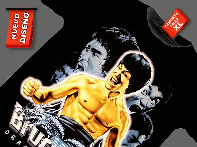 CAMISETA NEGRA KARATE KUN FU BRUCE LEE2
