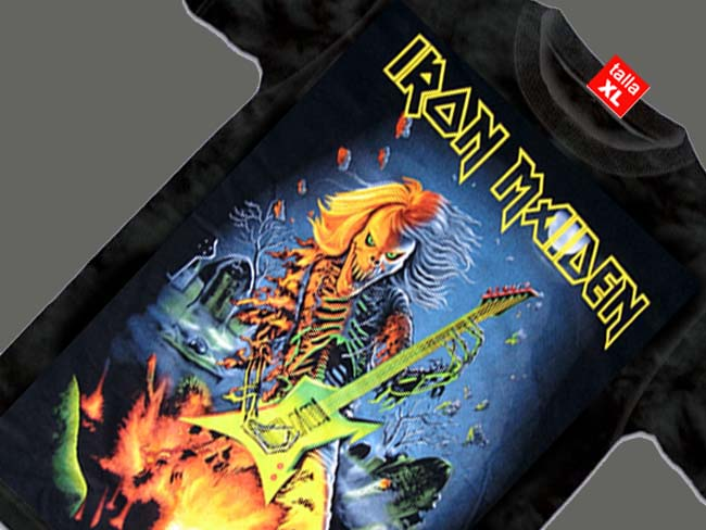 CAMISETA NEGRA GRUPO DE ROCK IRON MAIDEN