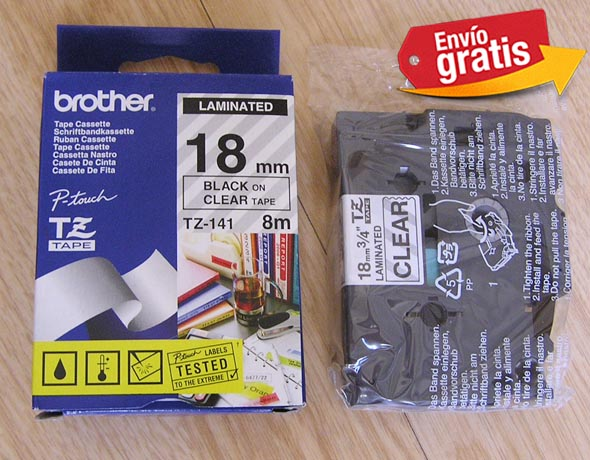 CINTA PARA ROTULADORA ELECTRONICA BROTHER TZ-141
