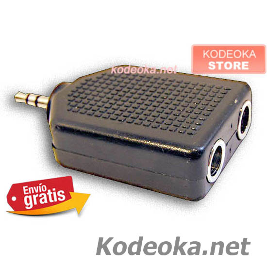 CLAVIJA ADAPTADOR JACK MINI JACK 3,5mm ESTEREO