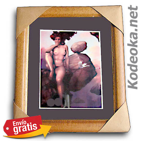 Cuadro Con Cristal Mujer Desnuda Sobre Roca Kodeoka