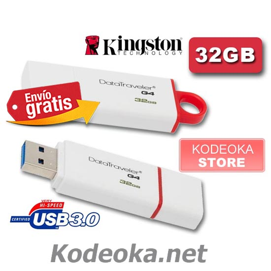 PENDRIVE MEMORIA FLASH KINGSTON USB3.0-32 GIGABYTES