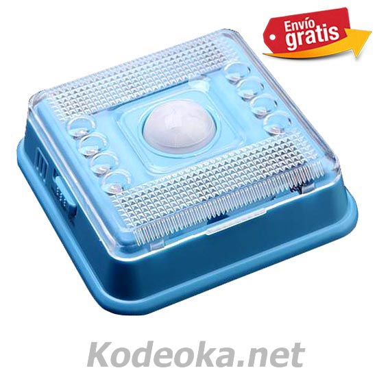 LAMPARA LEDS CON SENSOR DE MOVIMIENTO COLOR AZUL