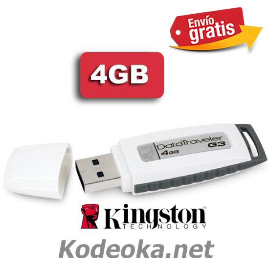 MEMORIA USB PENDRIVE MEMORIA FLASH KINGSTON 4GB