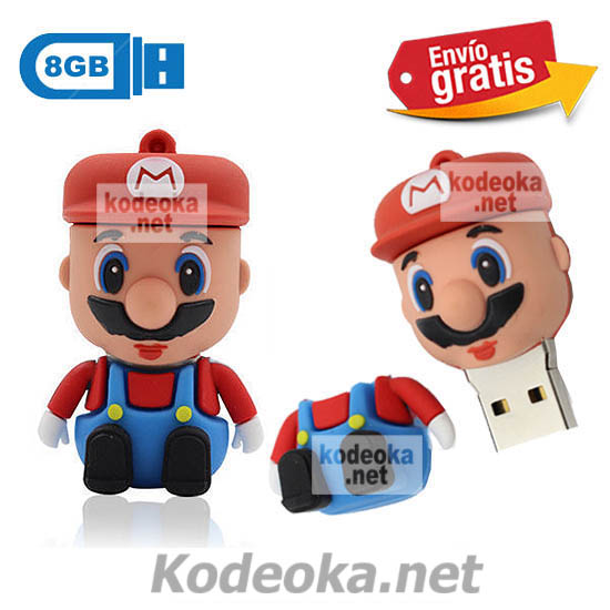 MEMORIA USB PENDRIVE MARIO BROSS 8GB