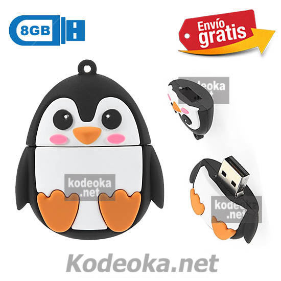 MEMORIA USB PENDRIVE PINGUINO 8GB