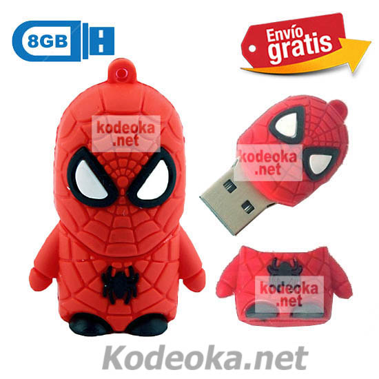 MEMORIA USB PENDRIVE SPIDERMAN 8GB