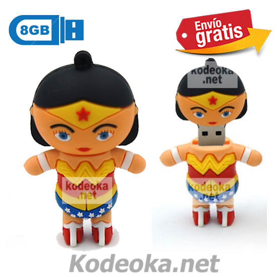 MEMORIA USB PENDRIVE SUPERWOMAN 8GB