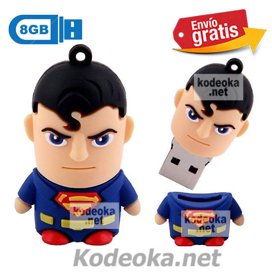 MEMORIA USB PENDRIVE SUPERMAN 8GB