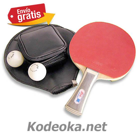 Palas con funda y bolas para jugar pin pon kodeoka - Bolas de pin pon ...