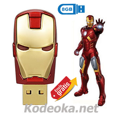 .MEMORIA USB PENDRIVE IRON MAN 8GB