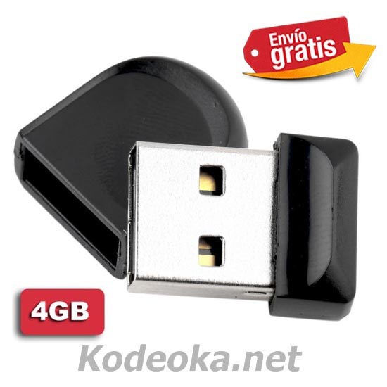 MINI MEMORIA USB 2.0 CAPACIDAD 4Gb