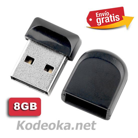 MINI MEMORIA USB 2.0 CAPACIDAD 8Gb