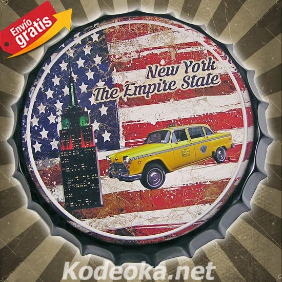 CHAPA METALICA COCHE NEW YORK EMPIRE STATE