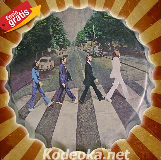 CHAPA METALICA GRUPO DE MUSICA THE BEATLES