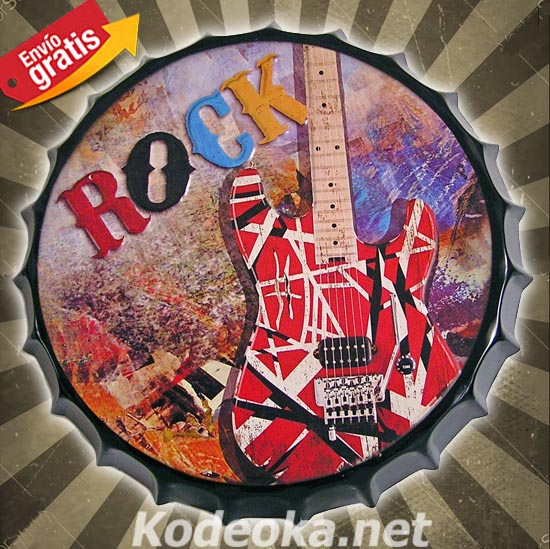 CHAPA METALICA GUITARRA FENDER MUSICA ROCK