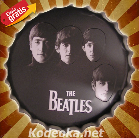 THE BEATLES CHAPA METALICA MUSICA GRUPO DE ROCK