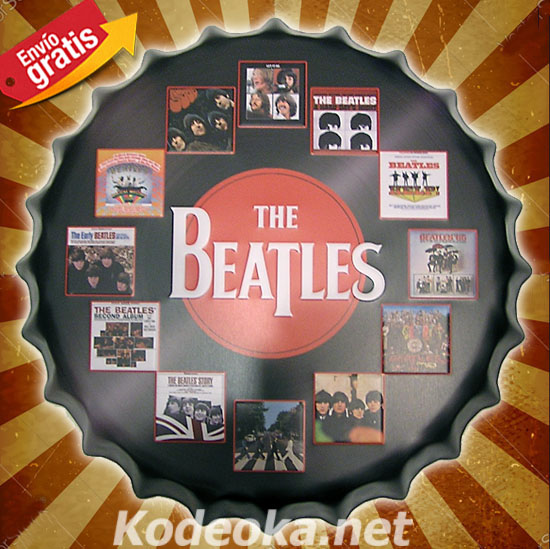 THE BEATLES VINILOS CHAPA METALICA MUSICA GRUPO DE ROCK THE BEAT