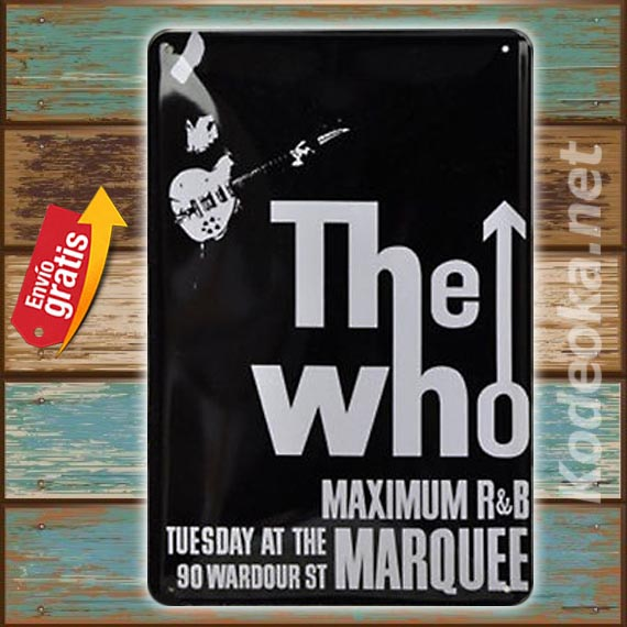 PLACA METALICA VINTAGE MUSICA GRUPO DE ROCK THE WHO