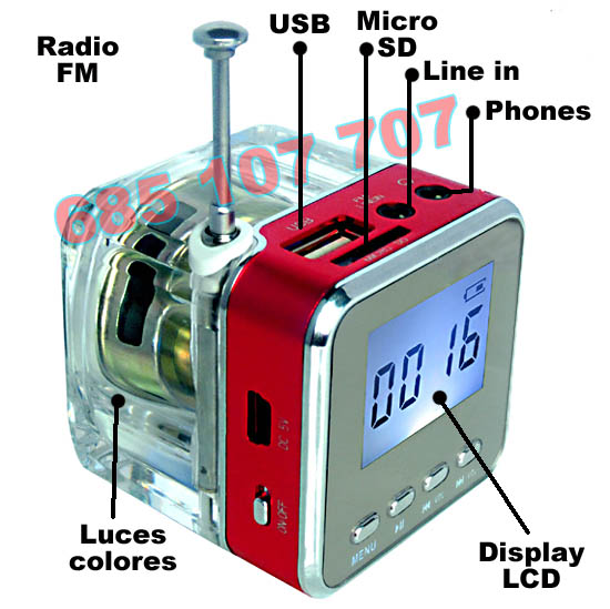 ALTAVOZ AMPLIFICADOR RADIO MP3 DISPLAY