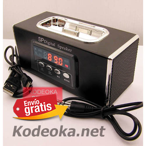 ALTAVOZ AMPLIFICADOR RADIO MP3 ESTEREO SOPORTE IPHONE