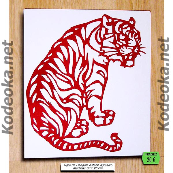 TIGRE SILUETA CHINA PAPER CUT
