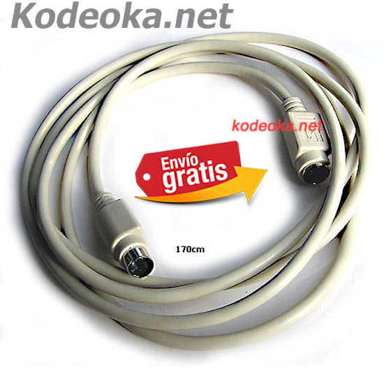 CABLE CON CONECTORES MINI DIM HEMBRA / MACHO